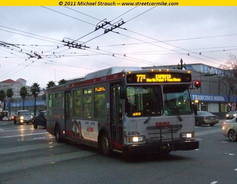 San Francisco Municipal Railway Orion Vii Hybrid Diesel